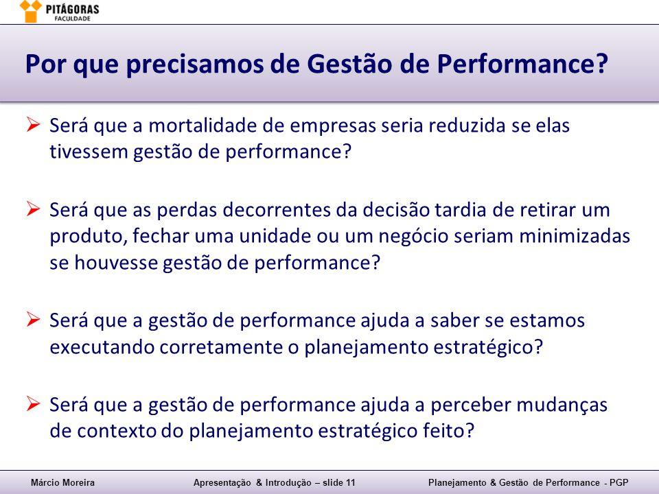 Por que precisamos de Gestão de Performance