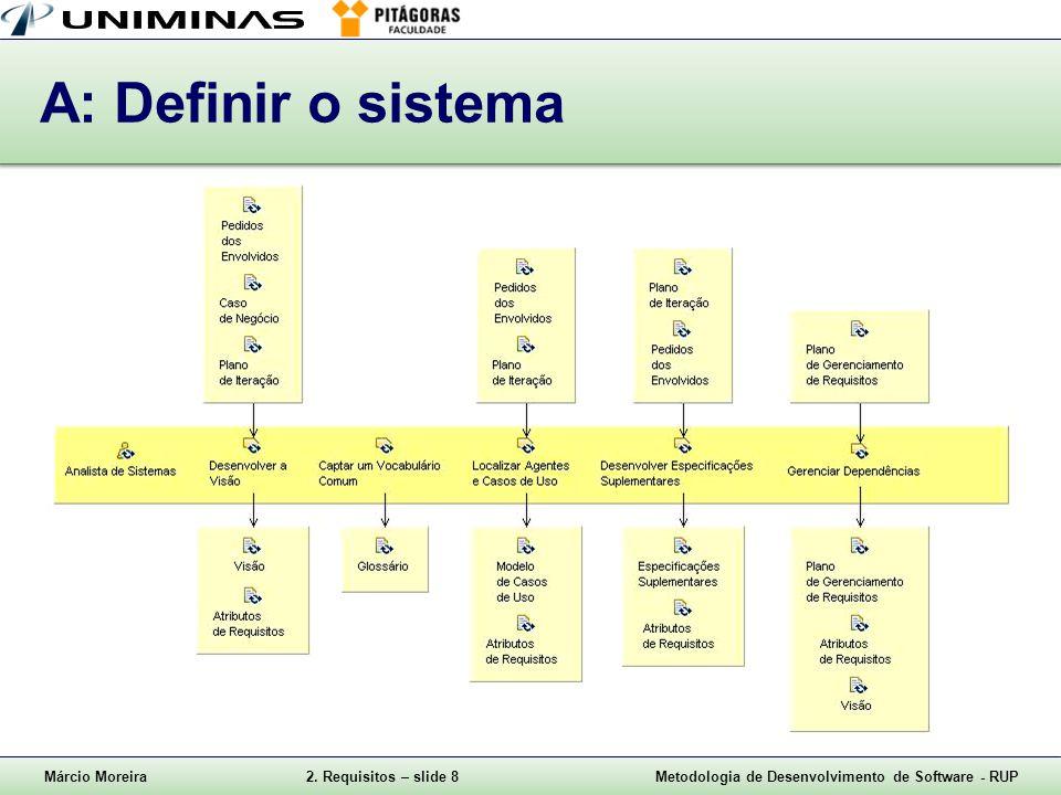 A: Definir o sistema