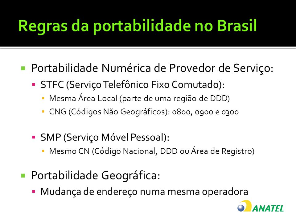 Regras da portabilidade no Brasil