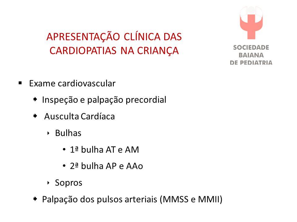 APRESENTAÇÃO CLÍNICA DAS CARDIOPATIAS NA CRIANÇA
