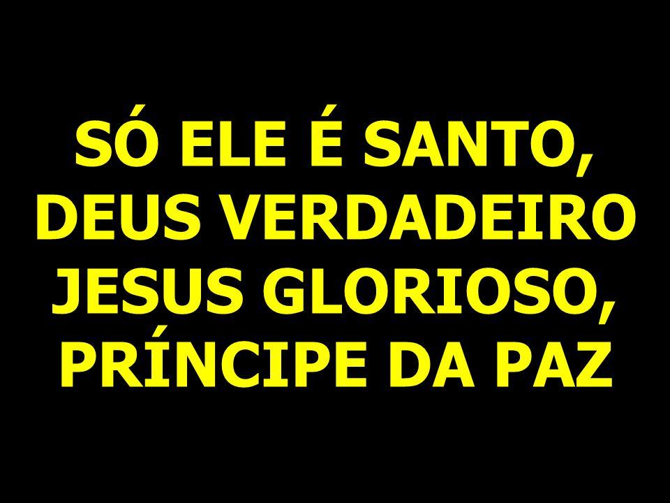 SÓ ELE É SANTO, DEUS VERDADEIRO JESUS GLORIOSO, PRÍNCIPE DA PAZ