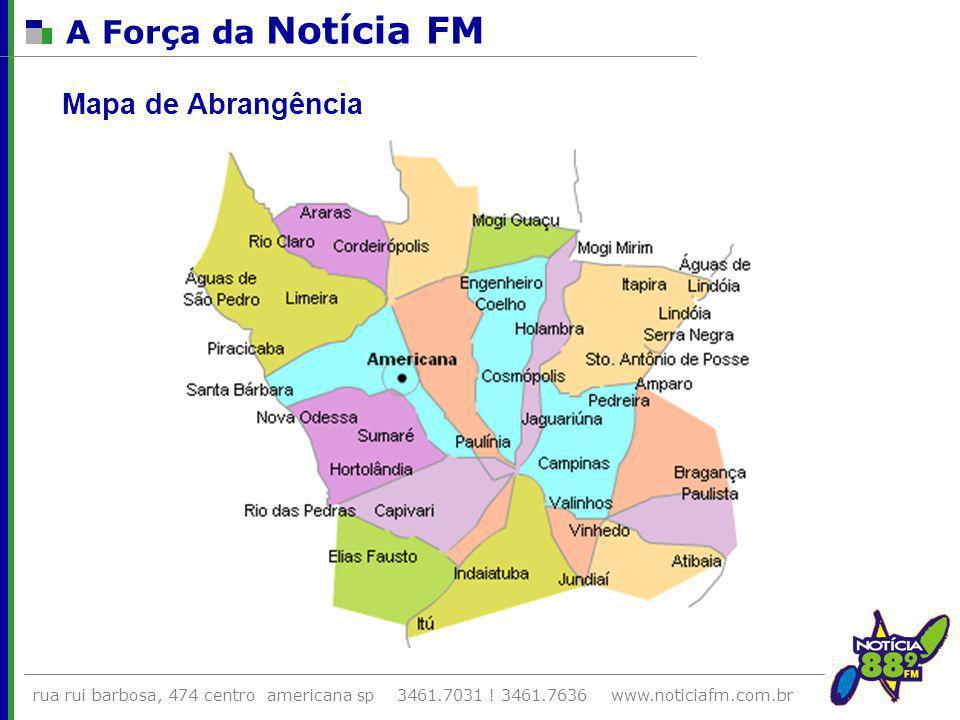 A Força da Notícia FM Mapa de Abrangência