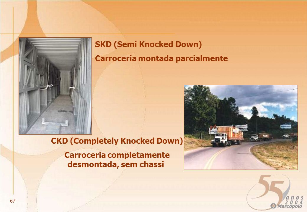 SKD (Semi Knocked Down) Carroceria montada parcialmente