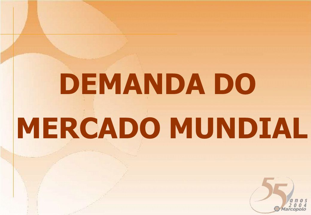 DEMANDA DO MERCADO MUNDIAL
