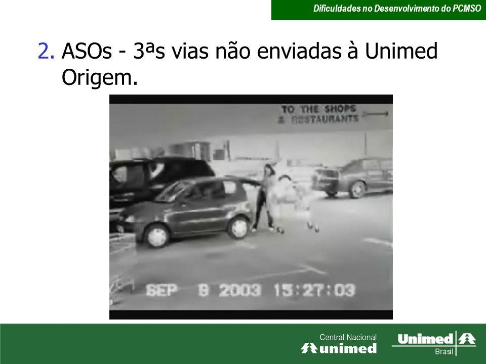 ASOs - 3ªs vias não enviadas à Unimed Origem.