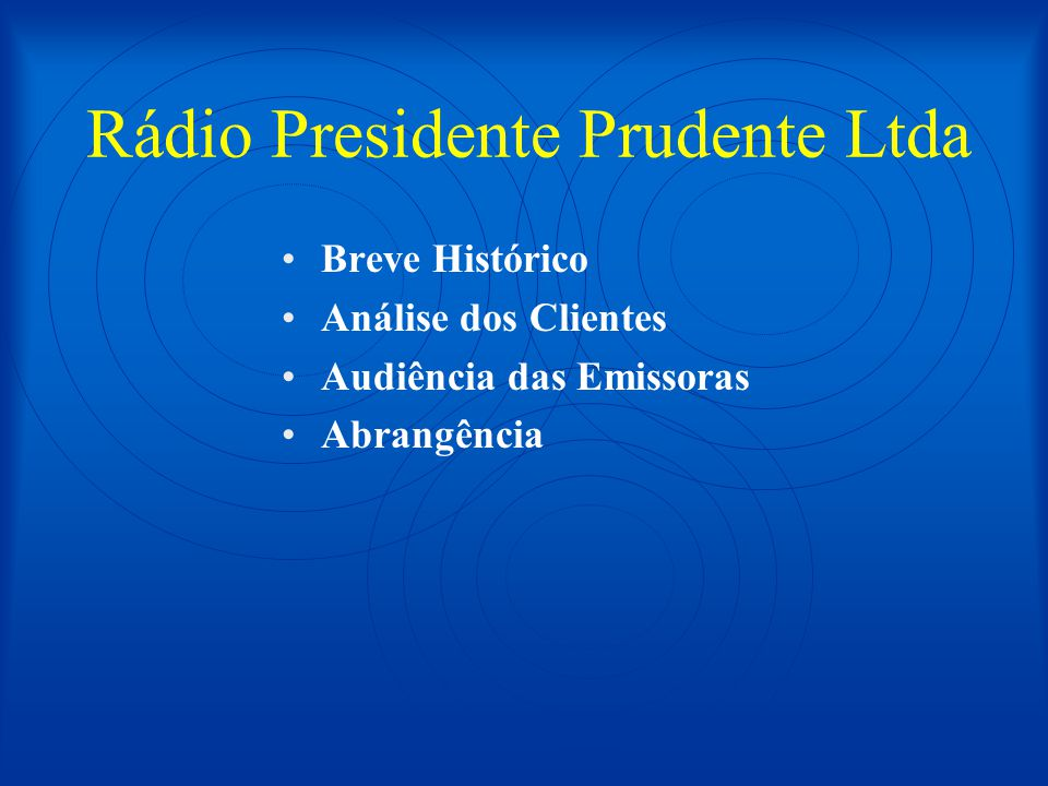 Rádio Presidente Prudente Ltda