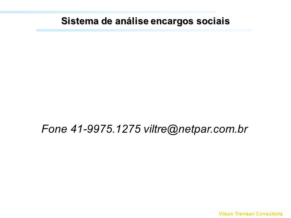 Sistema de análise encargos sociais
