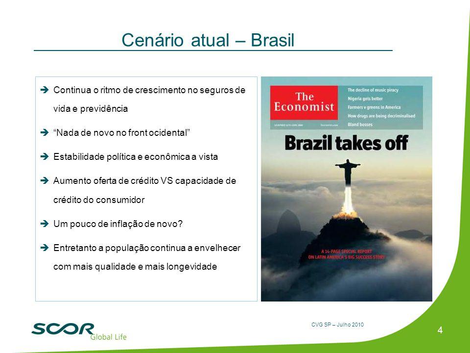 Cenário atual – Brasil Continua o ritmo de crescimento no seguros de vida e previdência. Nada de novo no front ocidental