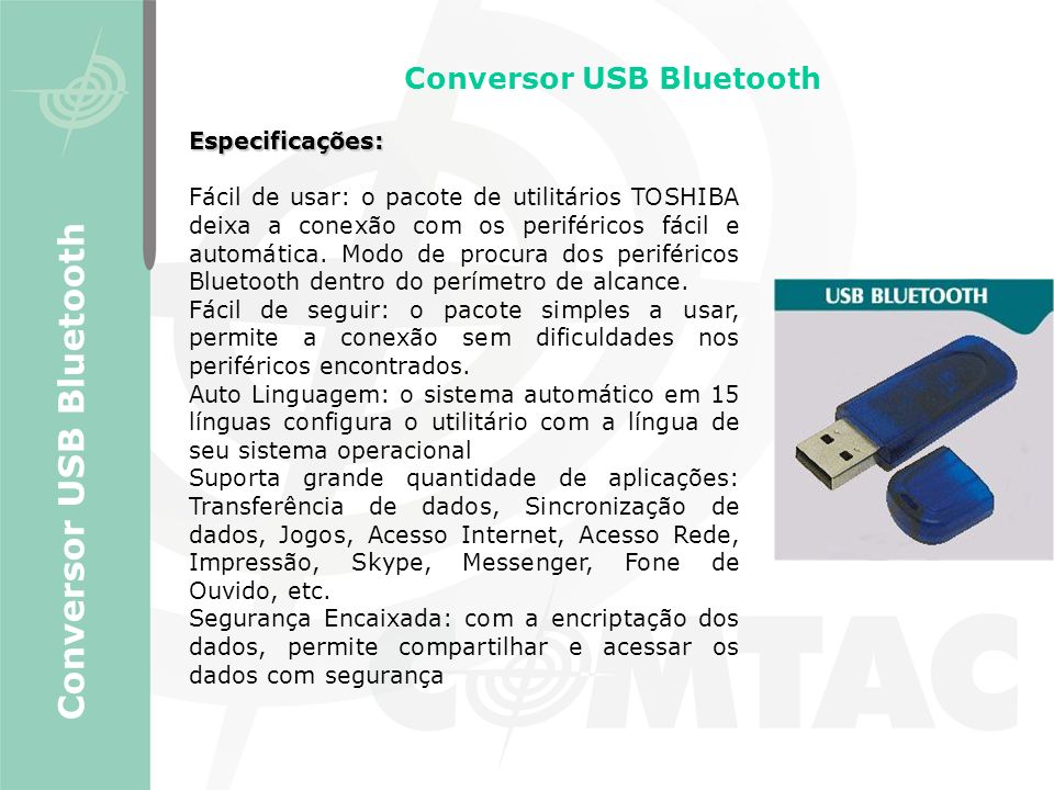 Conversor USB Bluetooth