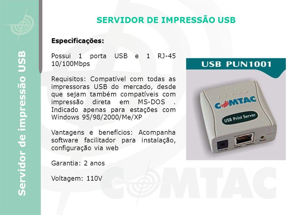 SERVIDOR DE IMPRESSÃO USB