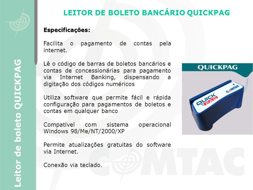 LEITOR DE BOLETO BANCÁRIO QUICKPAG