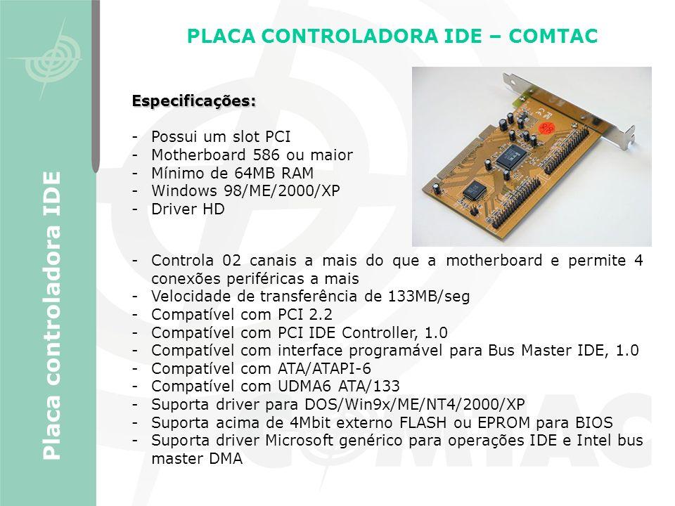 PLACA CONTROLADORA IDE – COMTAC