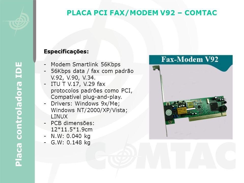 PLACA PCI FAX/MODEM V92 – COMTAC