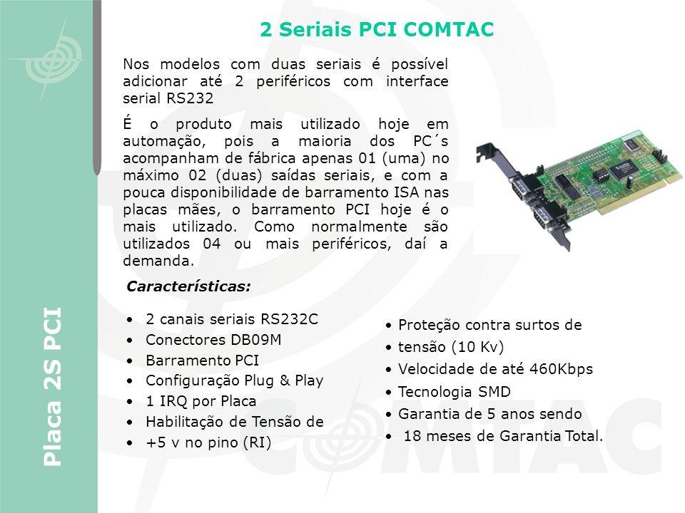Placa 2S PCI 2 Seriais PCI COMTAC