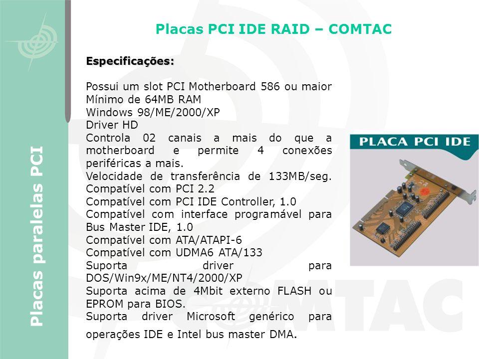 Placas PCI IDE RAID – COMTAC