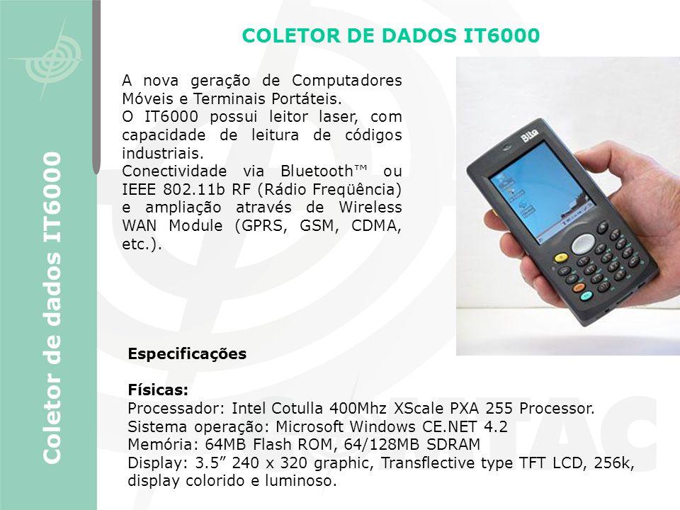 Coletor de dados IT6000 COLETOR DE DADOS IT6000