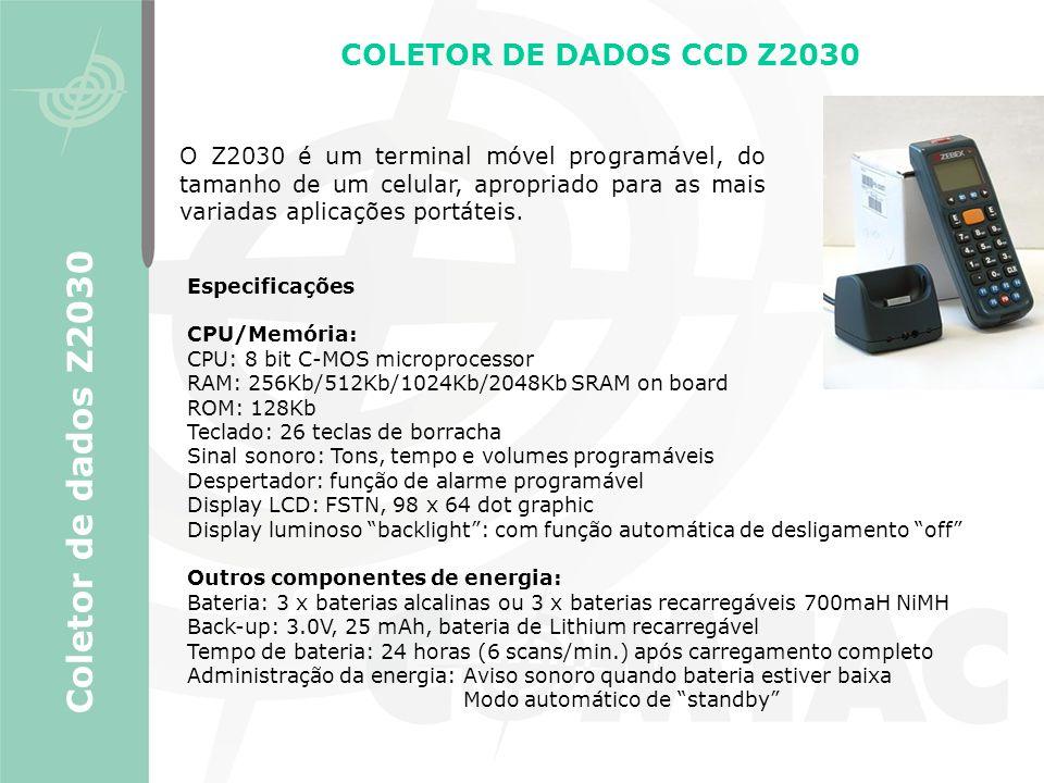 Coletor de dados Z2030 COLETOR DE DADOS CCD Z2030