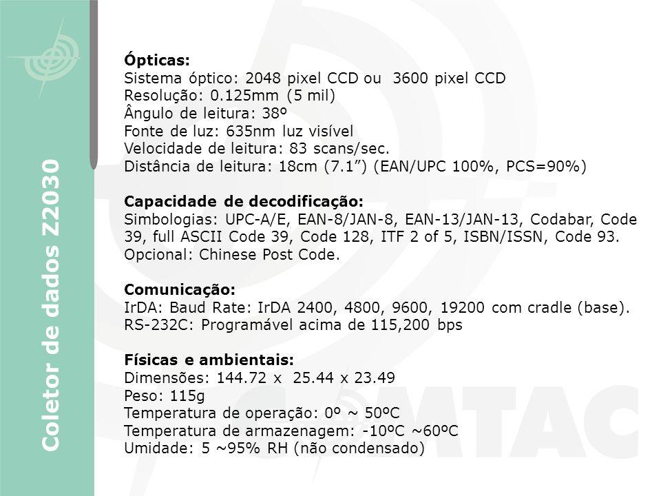Coletor de dados Z2030 Ópticas: