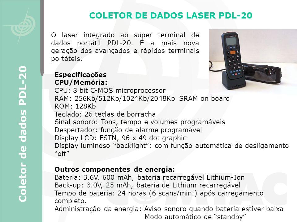 COLETOR DE DADOS LASER PDL-20