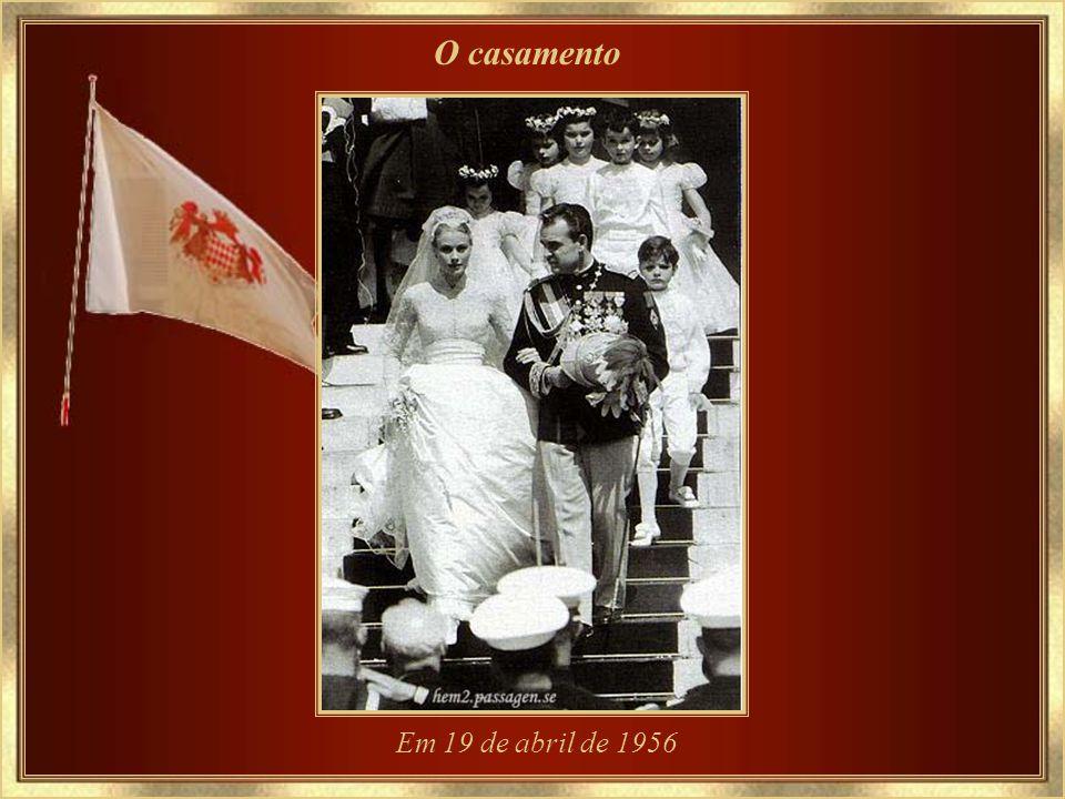 O casamento Em 19 de abril de 1956