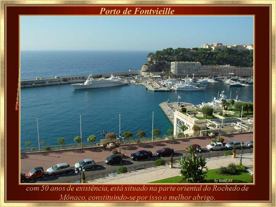 Porto de Fontvieille com 50 anos de existência, está situado na parte oriental do Rochedo de Mônaco, constituindo-se por isso o melhor abrigo.