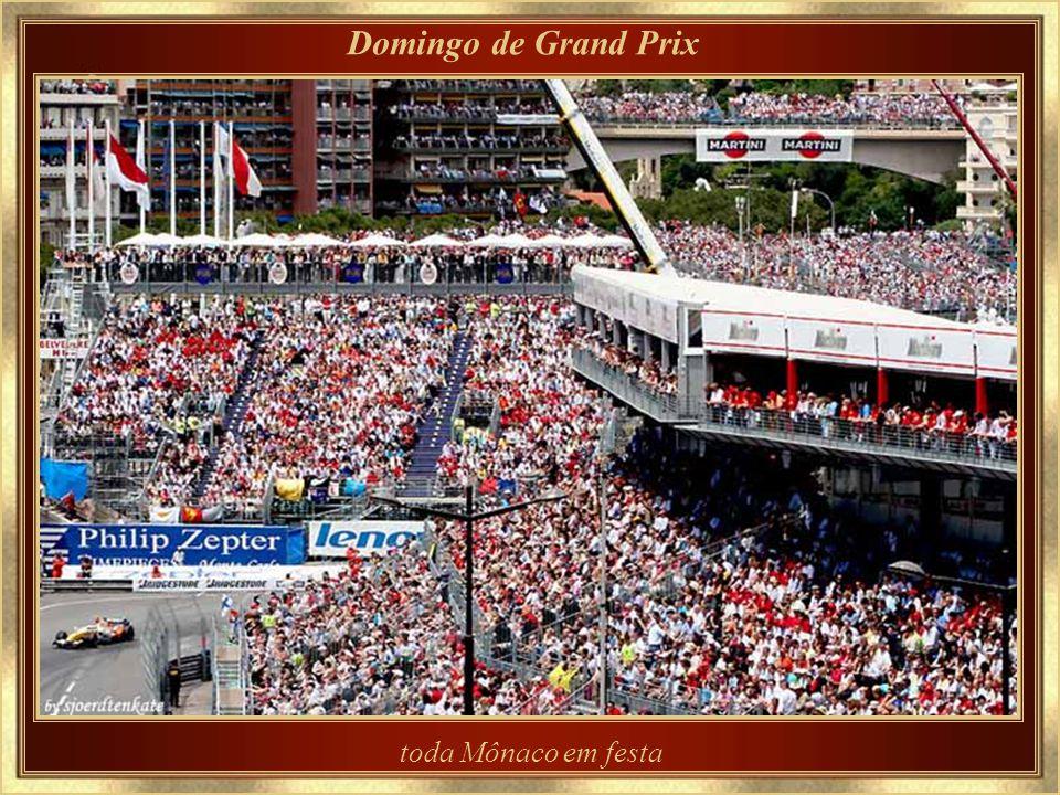 Domingo de Grand Prix toda Mônaco em festa