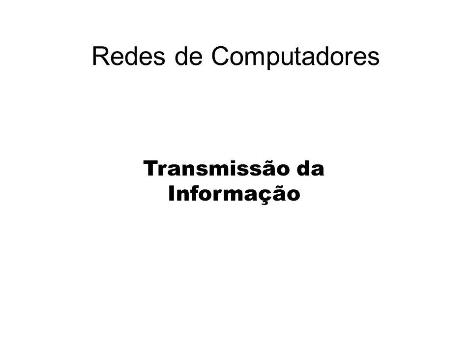 Redes de Computadores Transmissão da Informação