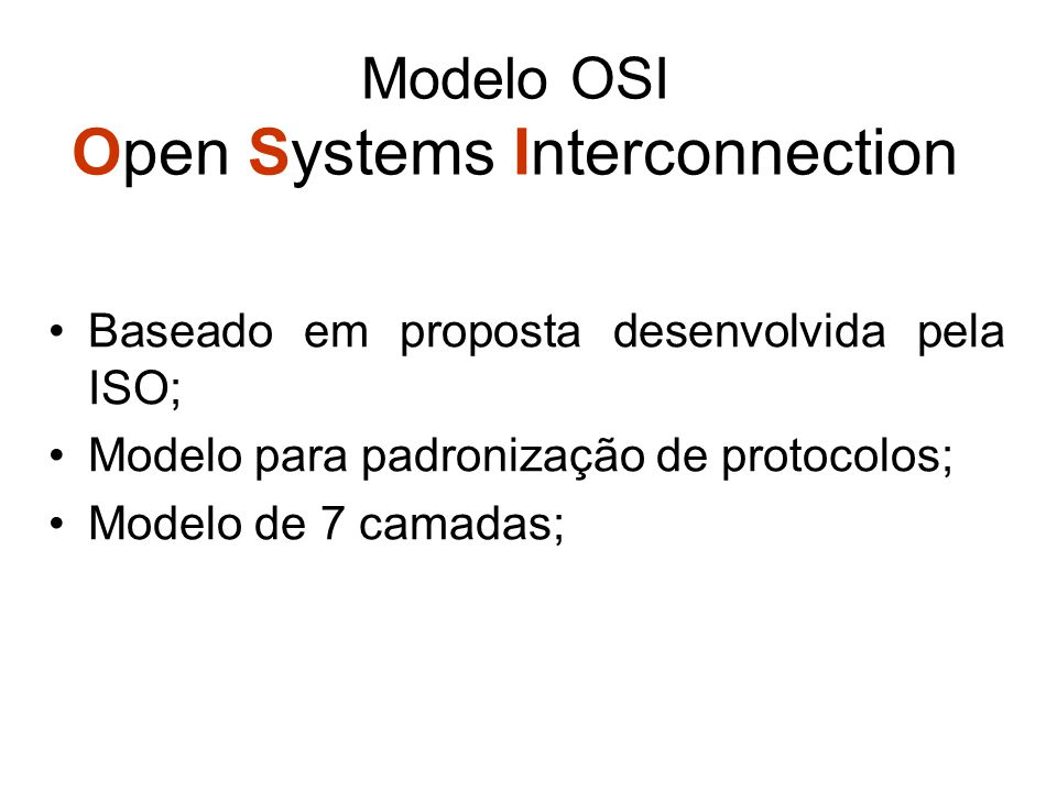 Modelo OSI Open Systems Interconnection