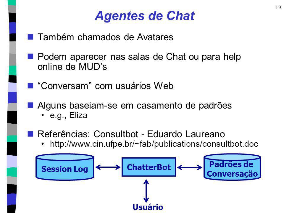 Agentes de Chat Também chamados de Avatares