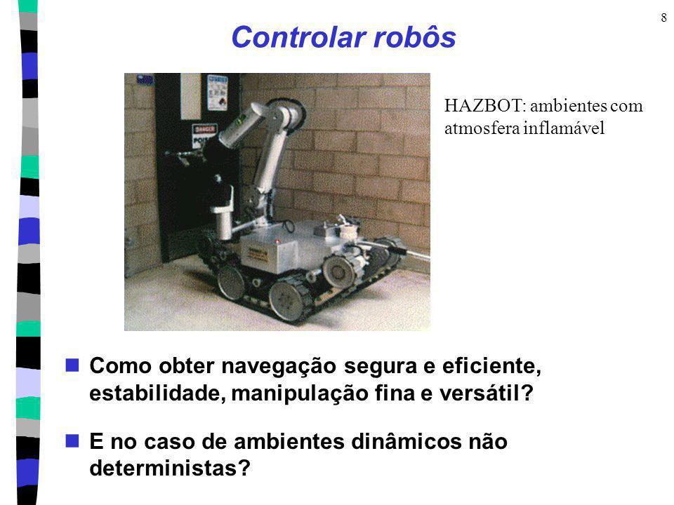Controlar robôs HAZBOT: ambientes com. atmosfera inflamável. Como obter navegação segura e eficiente, estabilidade, manipulação fina e versátil