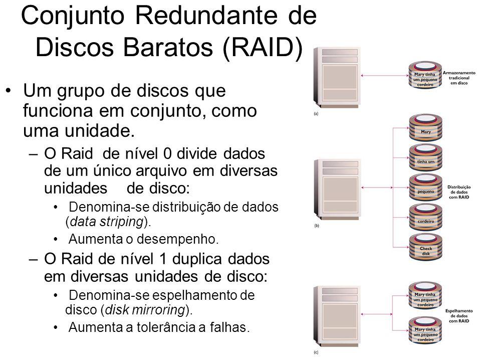 Conjunto Redundante de Discos Baratos (RAID)
