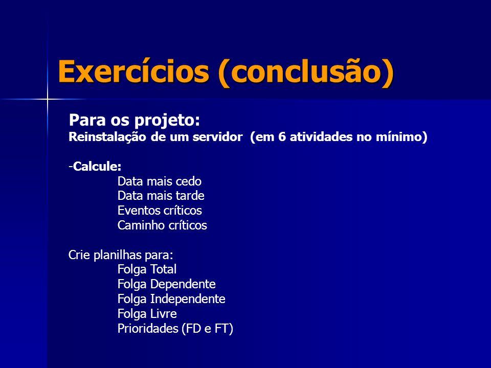 Exercícios (conclusão)