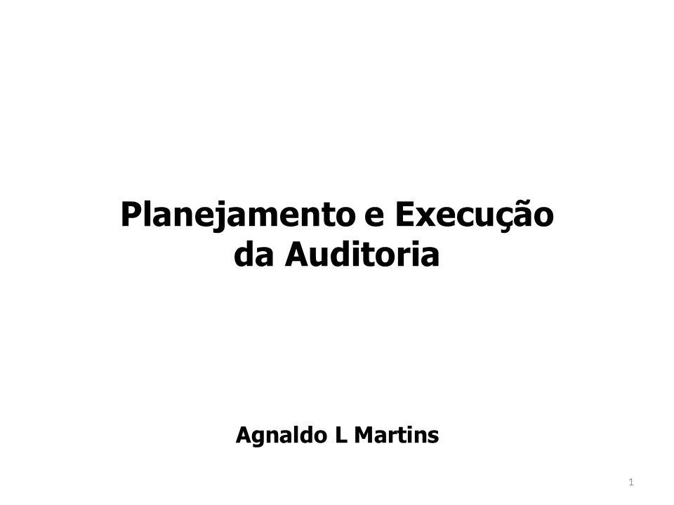 Planejamento e Execução da Auditoria