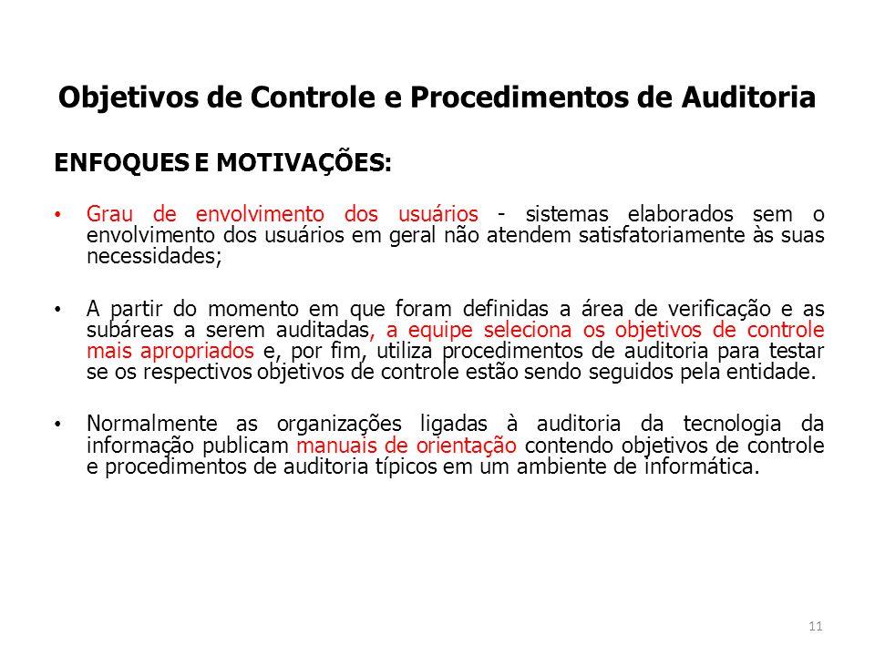Objetivos de Controle e Procedimentos de Auditoria