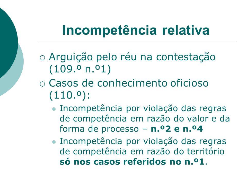 Incompetência relativa