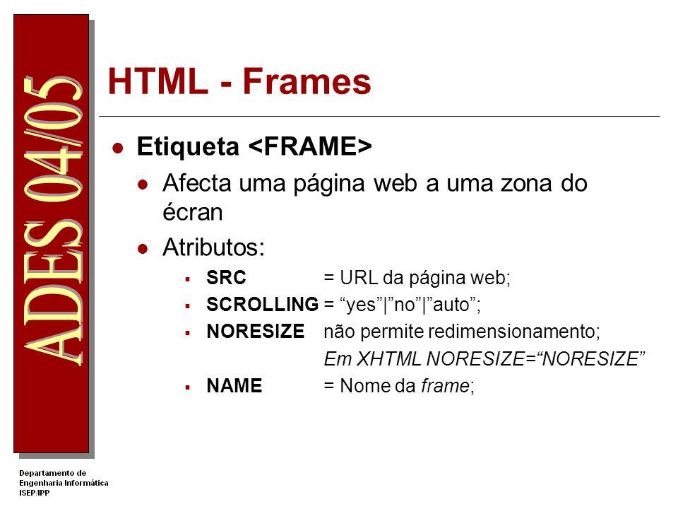 HTML - Frames Etiqueta <FRAME>