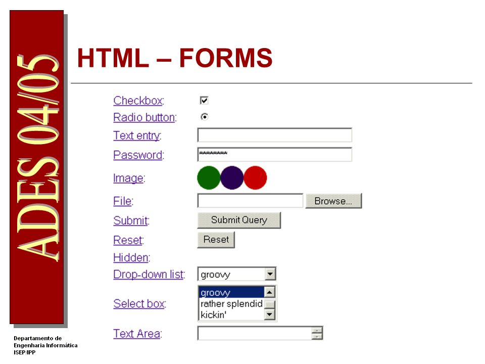 HTML – FORMS
