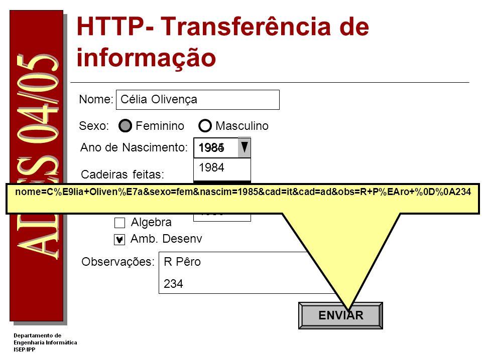 HTTP- Transferência de informação