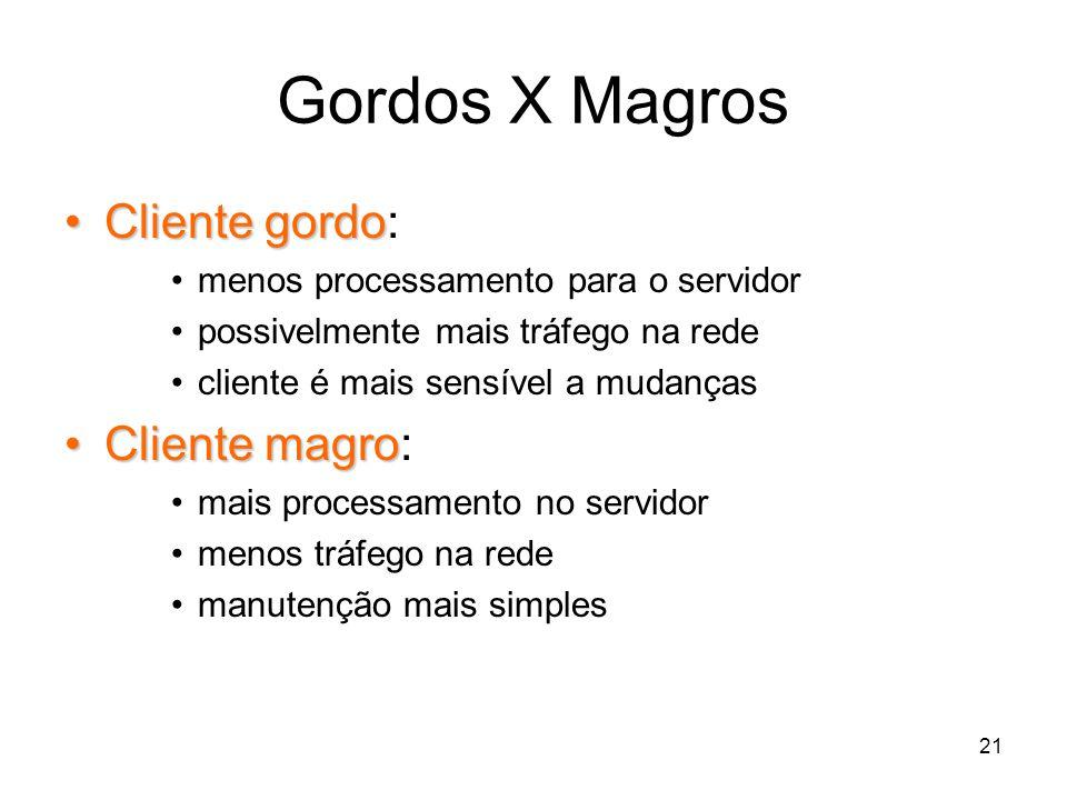 Gordos X Magros Cliente gordo: Cliente magro: