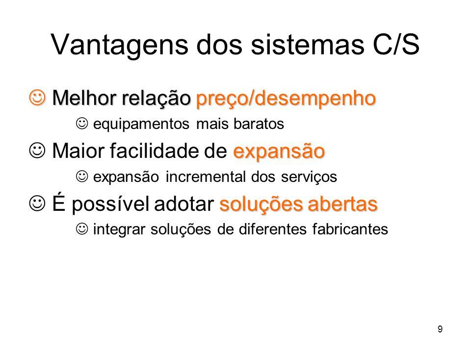 Vantagens dos sistemas C/S