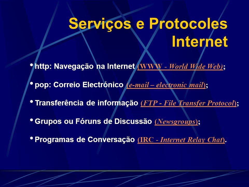 Serviços e Protocoles Internet