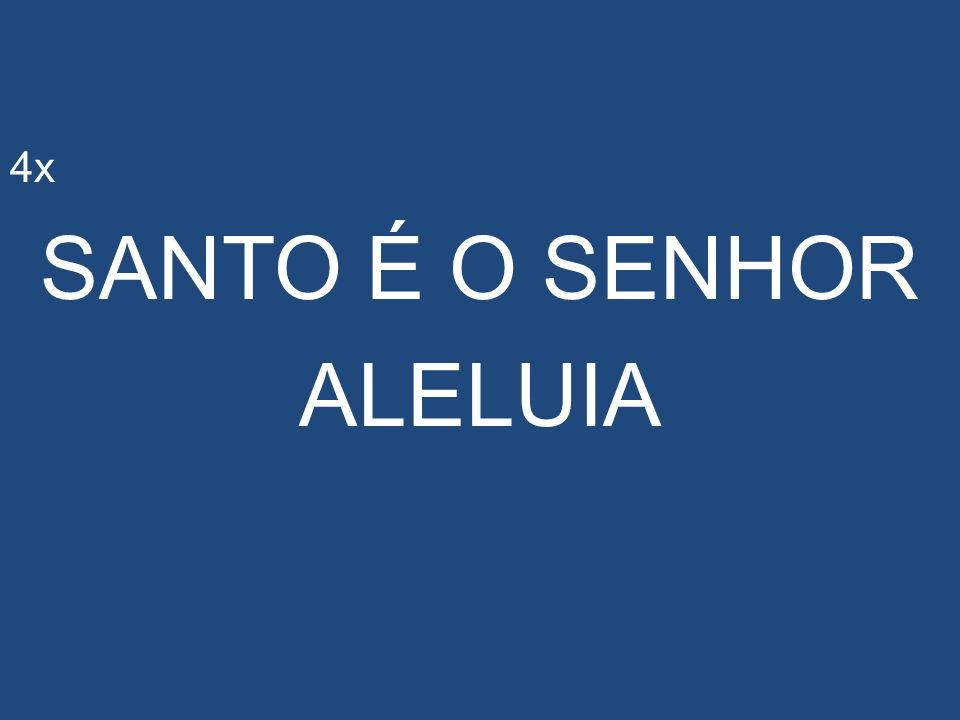 4x SANTO É O SENHOR ALELUIA