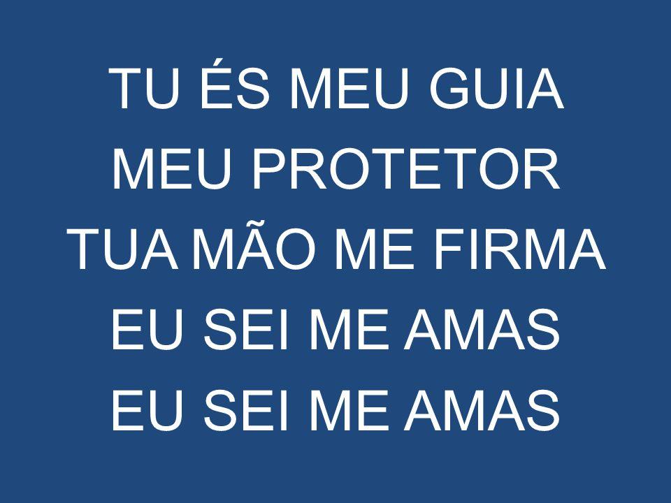 TU ÉS MEU GUIA MEU PROTETOR TUA MÃO ME FIRMA EU SEI ME AMAS