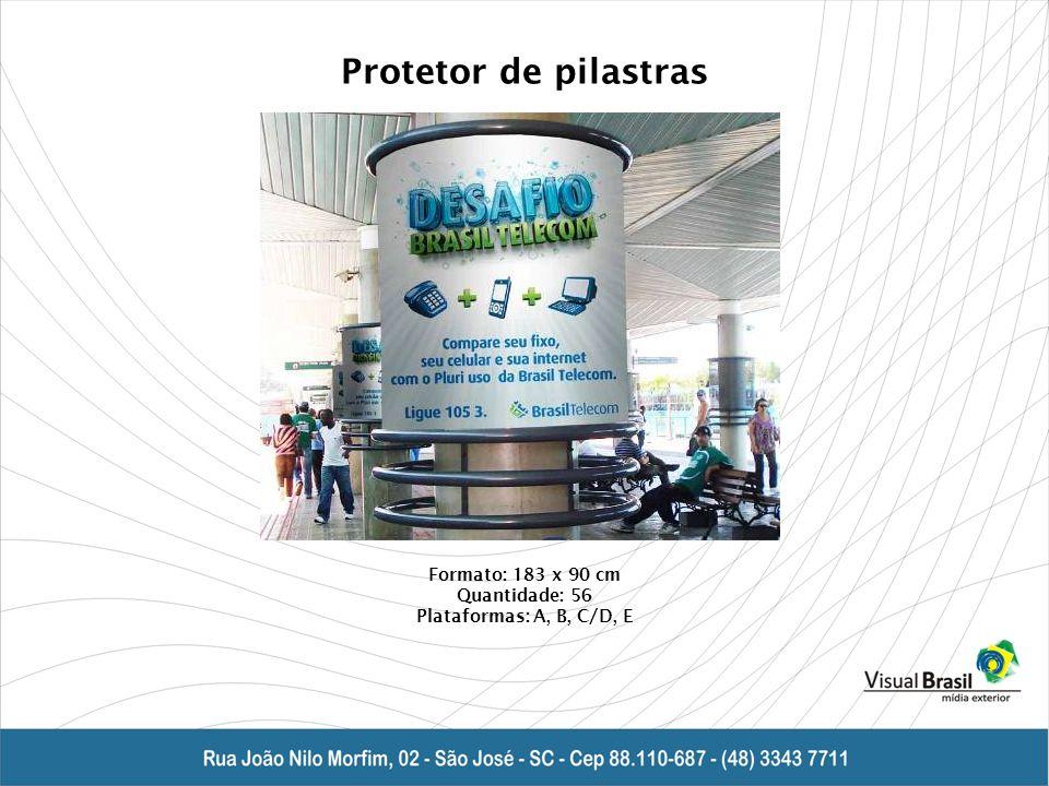 Protetor de pilastras Formato: 183 x 90 cm Quantidade: 56