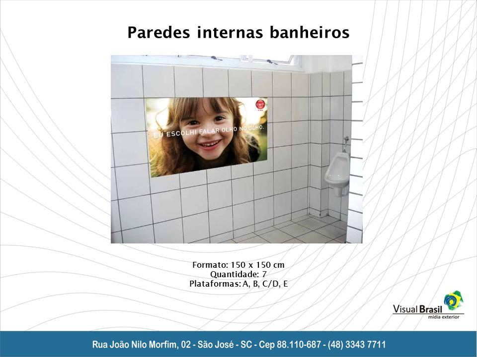Paredes internas banheiros