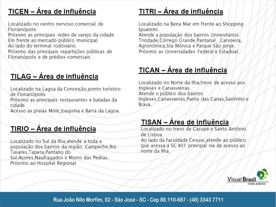 TICEN – Área de influência TITRI – Área de influência