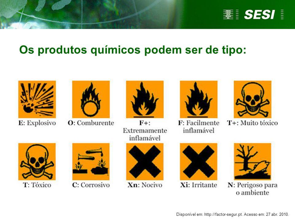 Os produtos químicos podem ser de tipo: