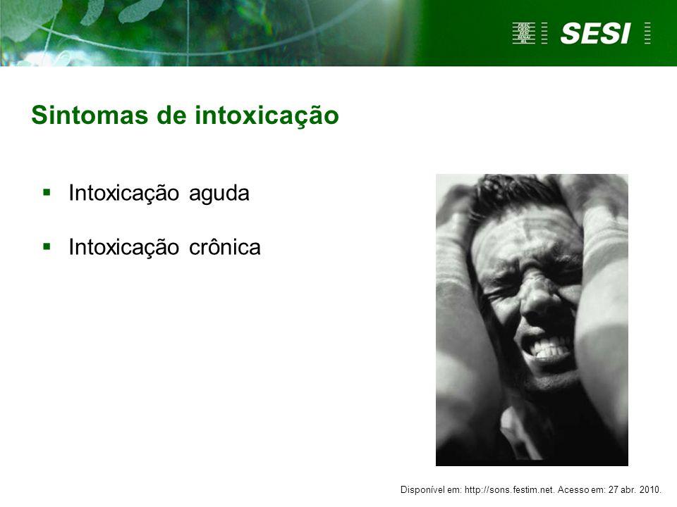 Sintomas de intoxicação
