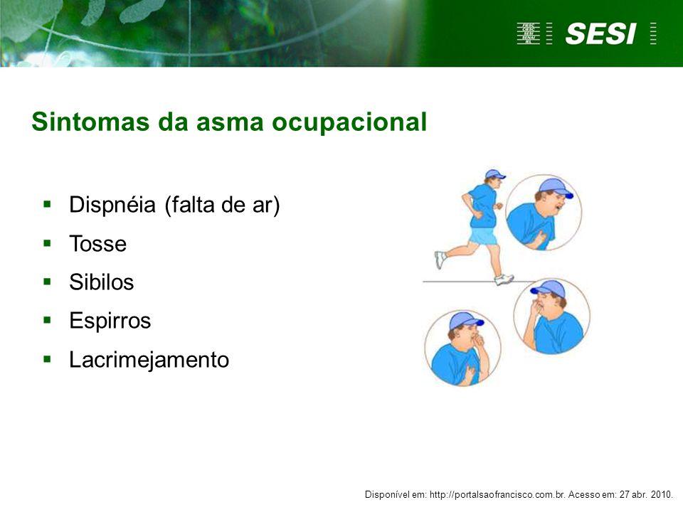 Sintomas da asma ocupacional