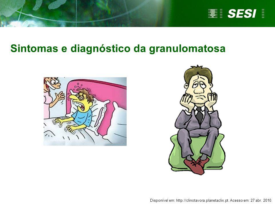 Sintomas e diagnóstico da granulomatosa